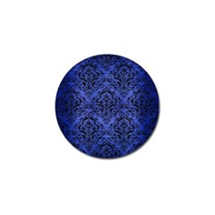 Damask1 Black Marble & Blue Brushed Metal (r) Golf Ball Marker (10 Pack) by trendistuff