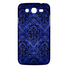 Damask1 Black Marble & Blue Brushed Metal (r) Samsung Galaxy Mega 5 8 I9152 Hardshell Case  by trendistuff