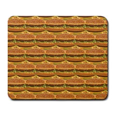 Delicious Burger Pattern Large Mousepads by berwies