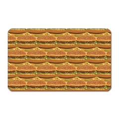 Delicious Burger Pattern Magnet (rectangular) by berwies