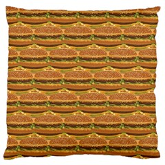 Delicious Burger Pattern Standard Flano Cushion Case (two Sides) by berwies