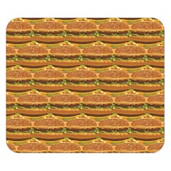 Delicious Burger Pattern Double Sided Flano Blanket (small)  by berwies
