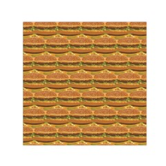 Delicious Burger Pattern Small Satin Scarf (square)  by berwies
