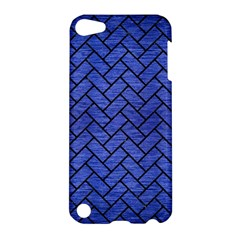 Brick2 Black Marble & Blue Brushed Metal (r) Apple Ipod Touch 5 Hardshell Case by trendistuff