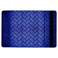 Brick2 Black Marble & Blue Brushed Metal (r) Apple Ipad Air 2 Flip Case by trendistuff