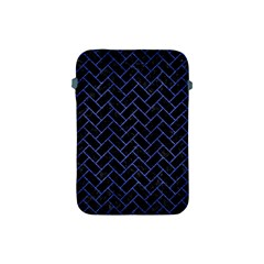 Brick2 Black Marble & Blue Brushed Metal Apple Ipad Mini Protective Soft Case by trendistuff