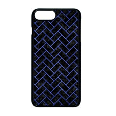 Brick2 Black Marble & Blue Brushed Metal Apple Iphone 7 Plus Seamless Case (black) by trendistuff