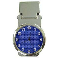 Brick1 Black Marble & Blue Brushed Metal (r) Money Clip Watch by trendistuff