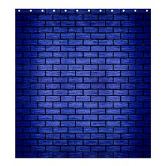 Brick1 Black Marble & Blue Brushed Metal (r) Shower Curtain 66  X 72  (large) by trendistuff