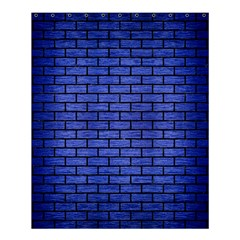 Brick1 Black Marble & Blue Brushed Metal (r) Shower Curtain 60  X 72  (medium) by trendistuff