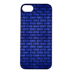 Brick1 Black Marble & Blue Brushed Metal (r) Apple Iphone 5s/ Se Hardshell Case by trendistuff