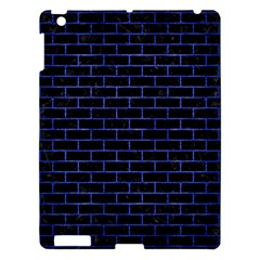 Brick1 Black Marble & Blue Brushed Metal Apple Ipad 3/4 Hardshell Case by trendistuff