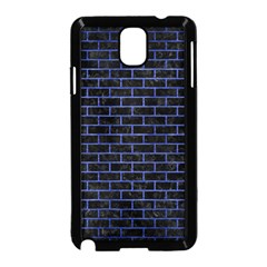 Brick1 Black Marble & Blue Brushed Metal Samsung Galaxy Note 3 Neo Hardshell Case (black) by trendistuff