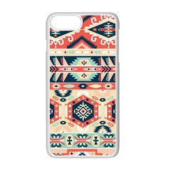 Aztec Pattern Apple iPhone 7 Plus White Seamless Case by Gogogo