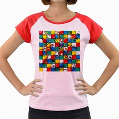 Snakes And Ladders Women s Cap Sleeve T-Shirt by Gogogo