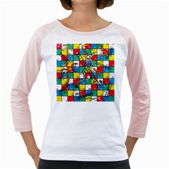 Snakes And Ladders Girly Raglans by Gogogo