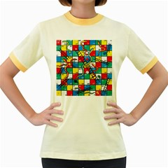 Snakes And Ladders Women s Fitted Ringer T-Shirts by Gogogo