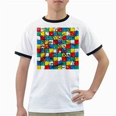 Snakes And Ladders Ringer T-Shirts by Gogogo