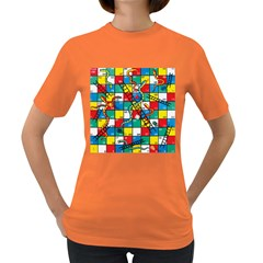 Snakes And Ladders Women s Dark T-Shirt by Gogogo