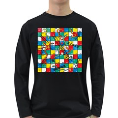 Snakes And Ladders Long Sleeve Dark T-Shirts by Gogogo