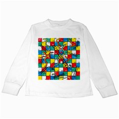 Snakes And Ladders Kids Long Sleeve T-Shirts by Gogogo