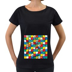 Snakes And Ladders Women s Loose-Fit T-Shirt (Black) by Gogogo