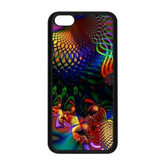 Colored Fractal Apple iPhone 5C Seamless Case (Black)