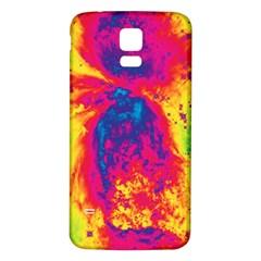 Space Samsung Galaxy S5 Back Case (white) by Valentinaart