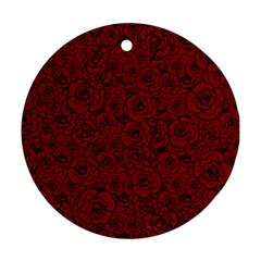 Red Roses Field Ornament (round)