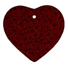 Red Roses Field Ornament (heart)