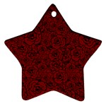 Red Roses Field Ornament (Star) Front