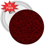 Red Roses Field 3  Buttons (10 pack)