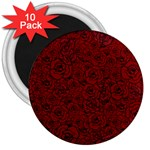Red Roses Field 3  Magnets (10 pack)