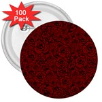 Red Roses Field 3  Buttons (100 pack)
