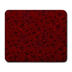 Red Roses Field Large Mousepads