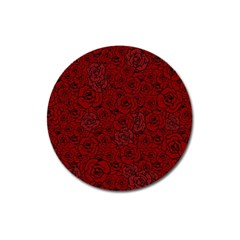 Red Roses Field Magnet 3  (round)