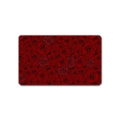 Red Roses Field Magnet (name Card)