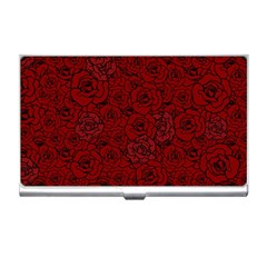 Red Roses Field Business Card Holders