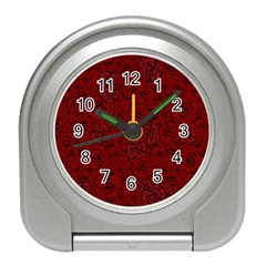 Red Roses Field Travel Alarm Clocks