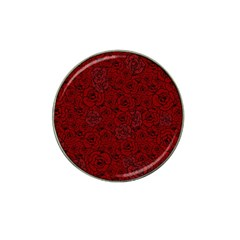 Red Roses Field Hat Clip Ball Marker