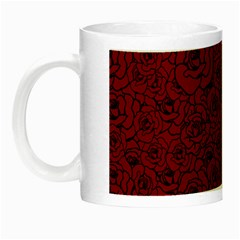 Red Roses Field Night Luminous Mugs