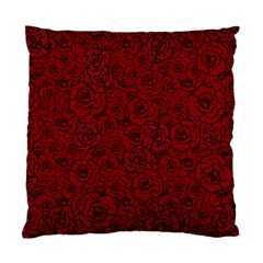 Red Roses Field Standard Cushion Case (one Side)