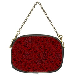 Red Roses Field Chain Purses (two Sides)