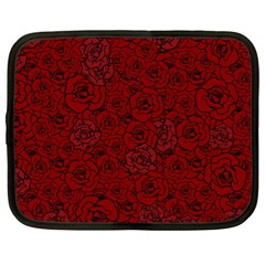Red Roses Field Netbook Case (xl)  by designworld65