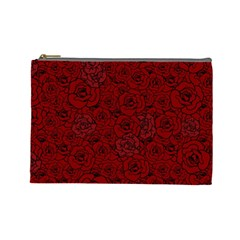 Red Roses Field Cosmetic Bag (large)