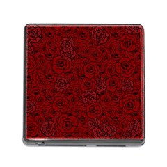 Red Roses Field Memory Card Reader (square)