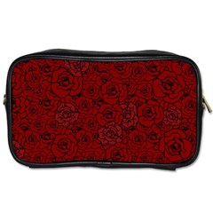 Red Roses Field Toiletries Bags 2 Side
