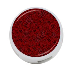 Red Roses Field 4 Port Usb Hub (one Side)