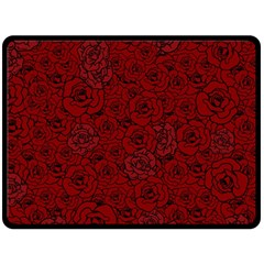 Red Roses Field Fleece Blanket (large)