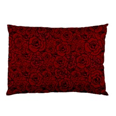 Red Roses Field Pillow Case (two Sides) by designworld65